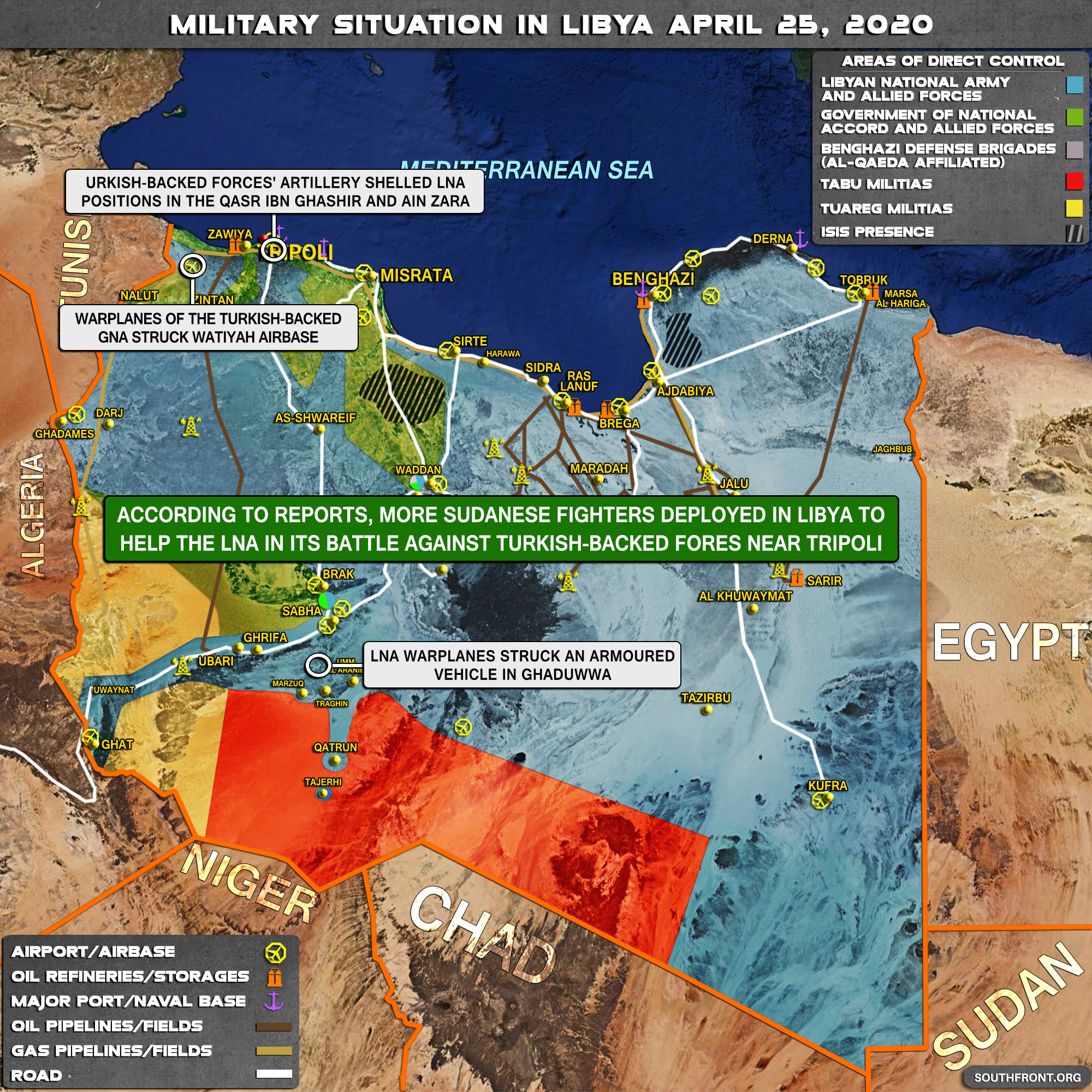 Military Situation In Libya On April 25, 2020 (Map Update)