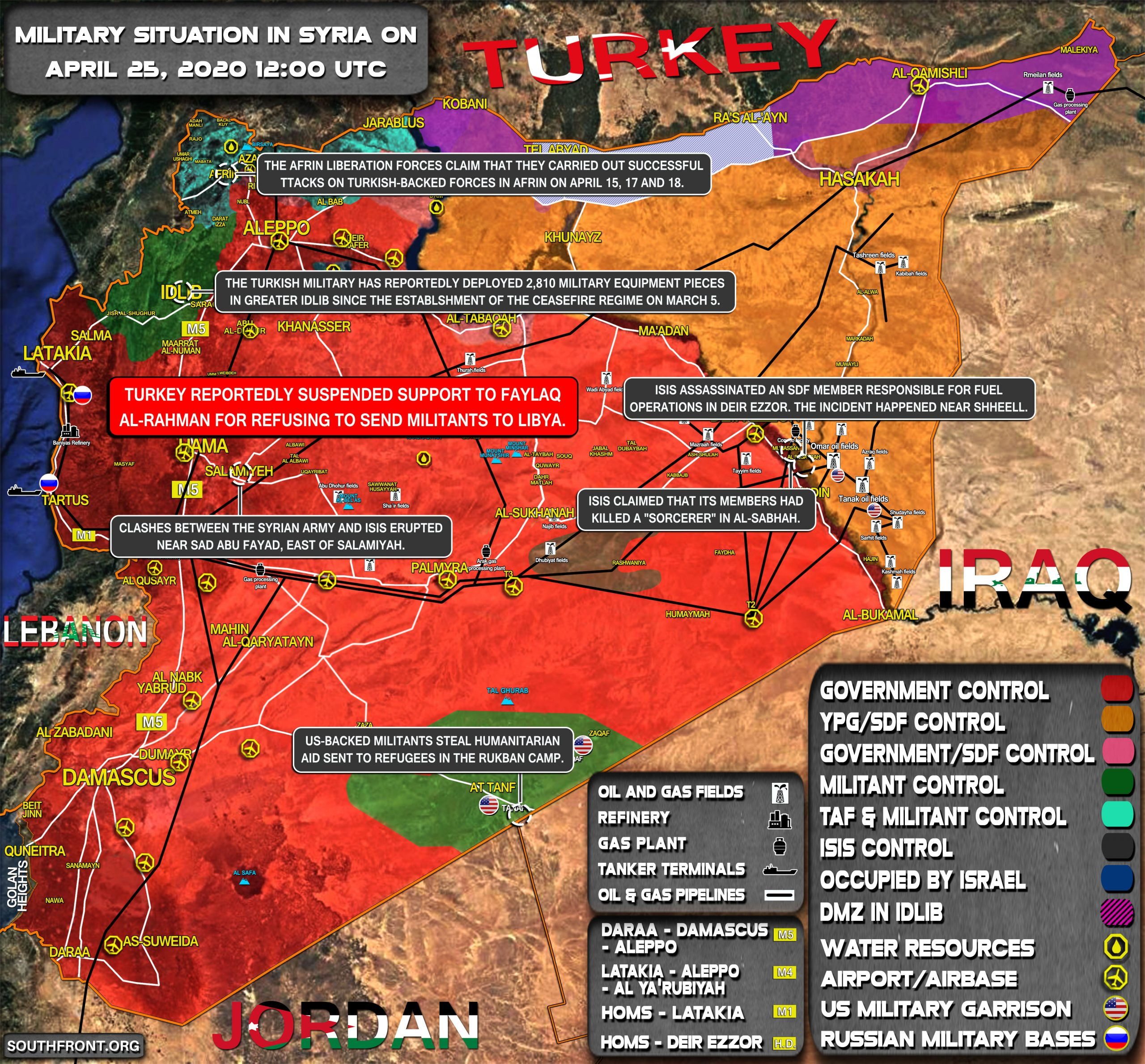 Military Situation In Syria On April 25, 2020 (Map Update)