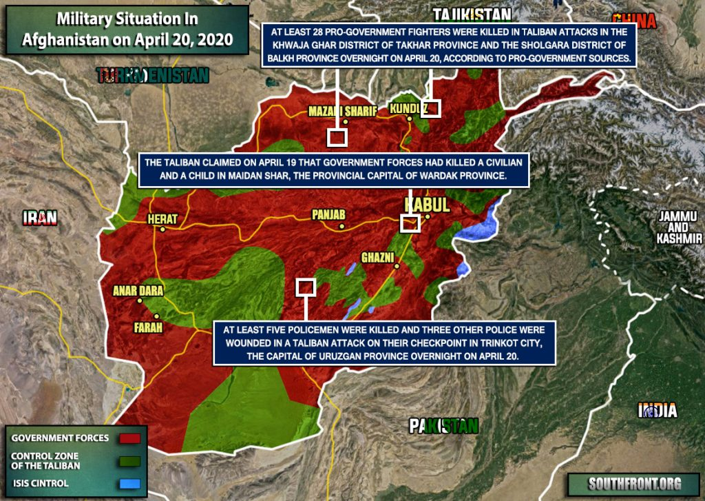 Military Situation In Afghanistan On April 20, 2020 (Map Update)