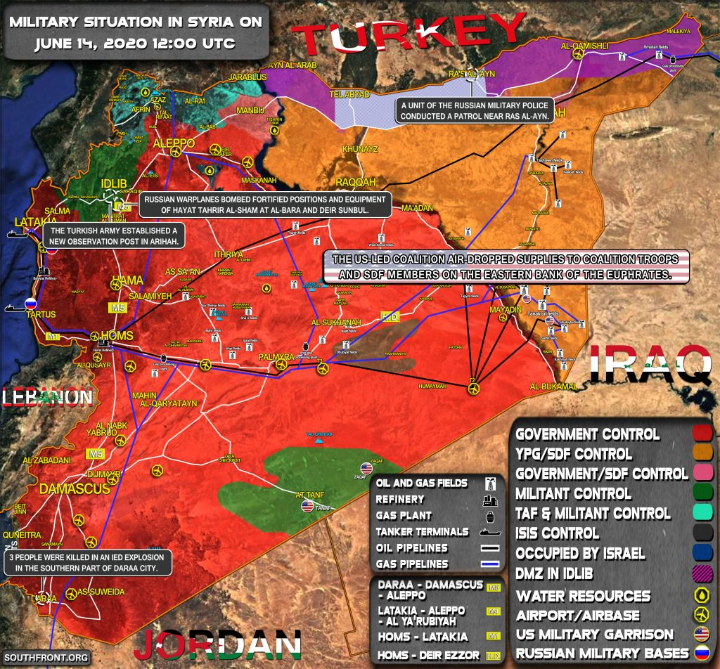 Military Situation In Syria On June 14, 2020 (Map Update)